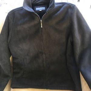 Men's Perry Ellis SZ LG Jacket Coat BLK Front ZIP